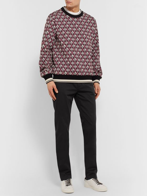 Dolce & Gabbana Cotton-Blend Jacquard Sweater