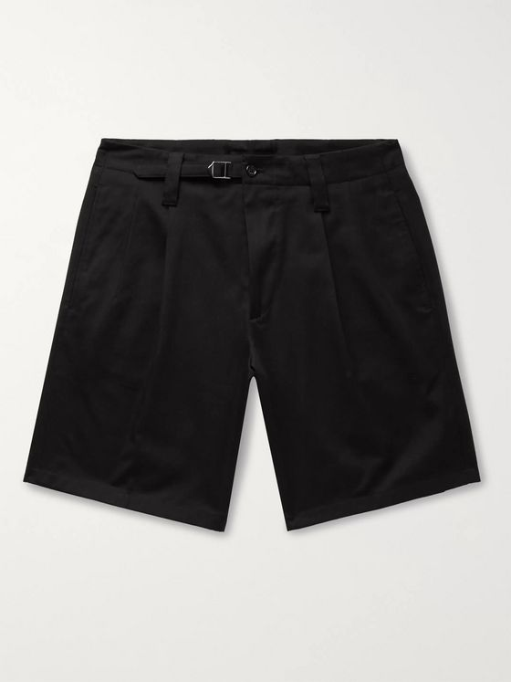 Dolce & Gabbana Pleated Cotton-Blend Drill Shorts