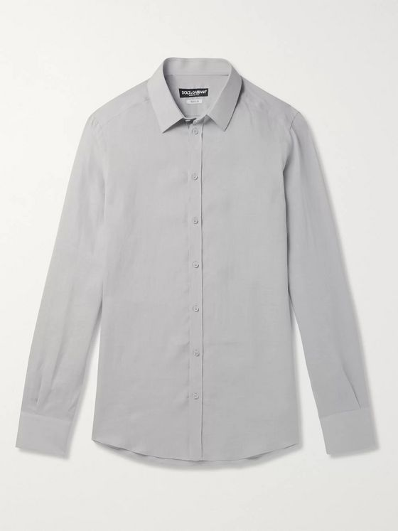 Dolce & Gabbana Slim-Fit Linen Shirt