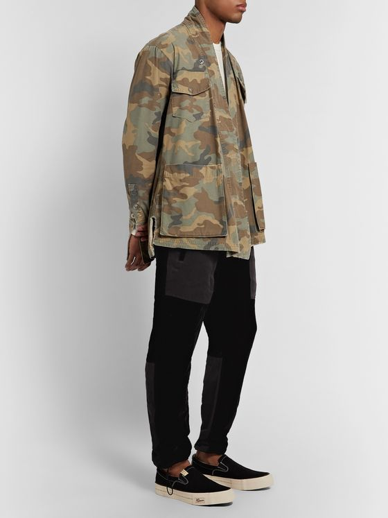 Greg Lauren Camouflage-Print Cotton Jacket