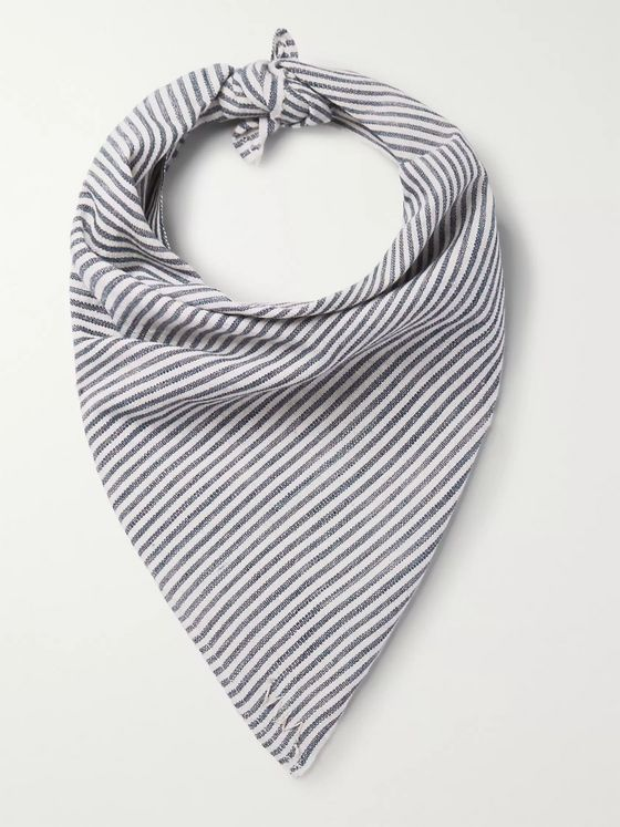 VISVIM Striped Cotton Bandana