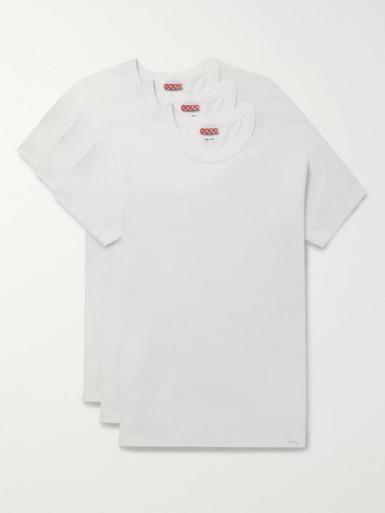 VISVIM Three-Pack Slim-Fit Cotton-Jersey T-Shirts