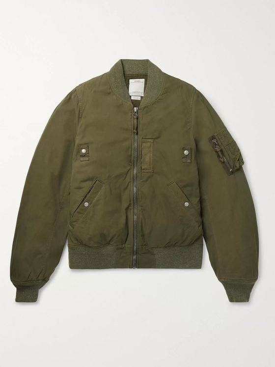 VISVIM Thorson Padded Cotton-Blend Bomber Jacket