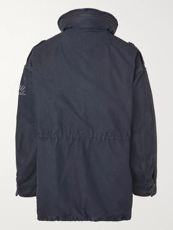 VISVIM Hooded Logo-Print Cotton Parka