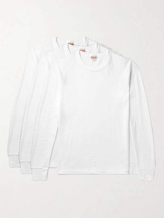 visvim Three-Pack Cotton-Jersey Thermal T-Shirts