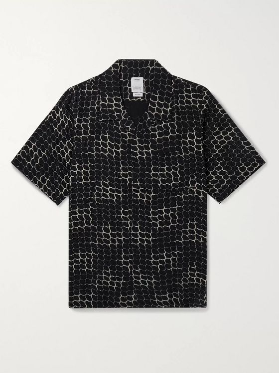 VISVIM Camp-Collar Printed Voile Shirt