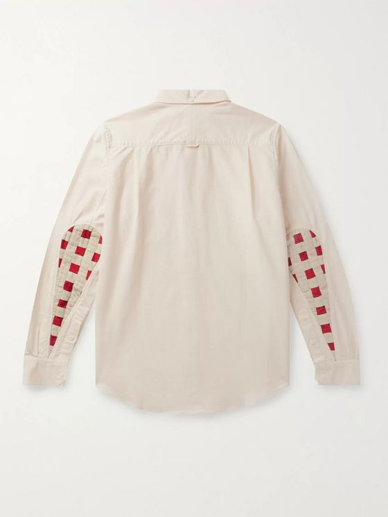 VISVIM Albacore Lungta Button-Down Collar Panelled Cotton Shirt