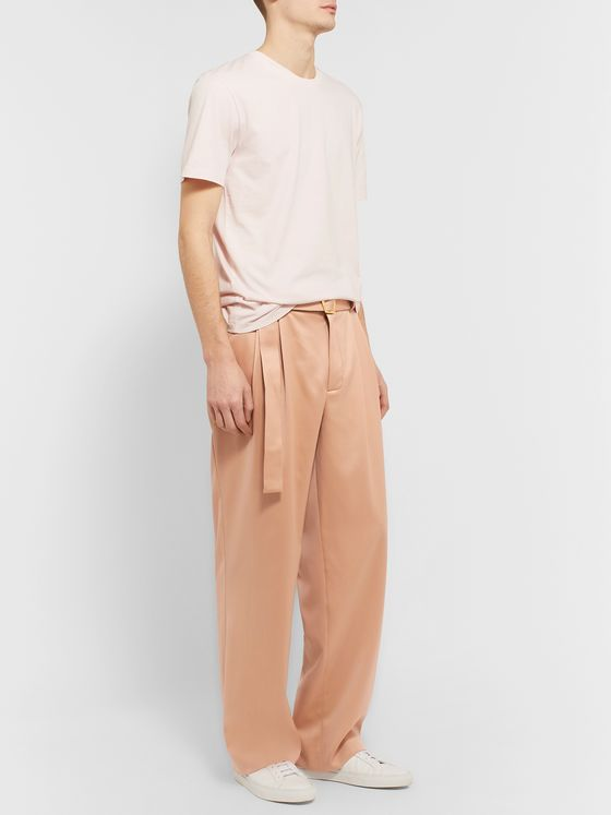 Sies Marjan Andy Wide-Leg Pleated Virgin Wool-Twill Trousers
