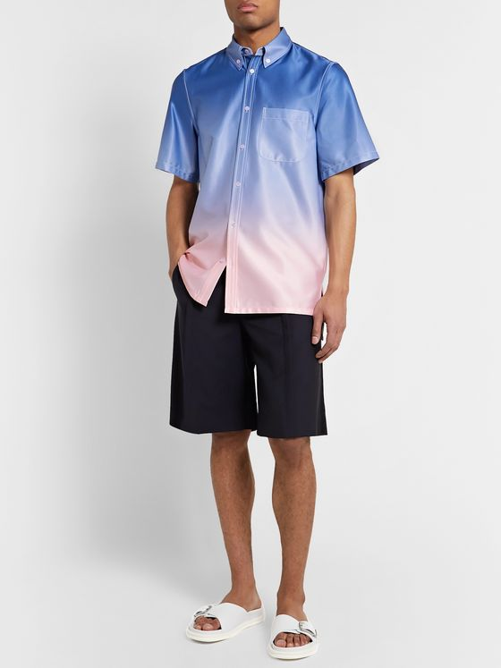 Sies Marjan Rooney Button-Down Collar Dégradé Satin Shirt