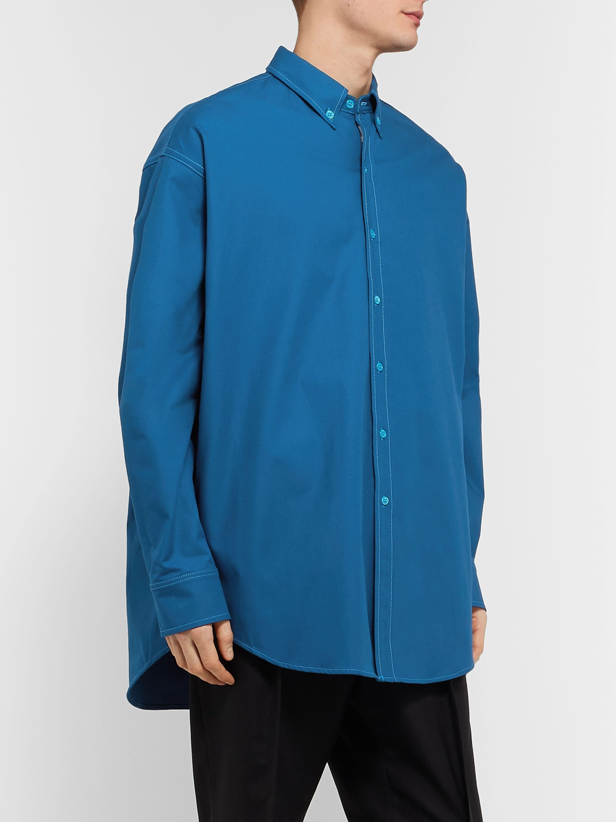 Sies Marjan Anderson Button-Down Collar Cotton-Blend Canvas Shirt