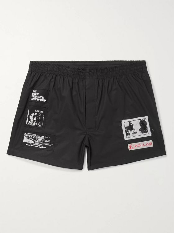 Raf Simons Appliquéd Cotton-Twill Shorts