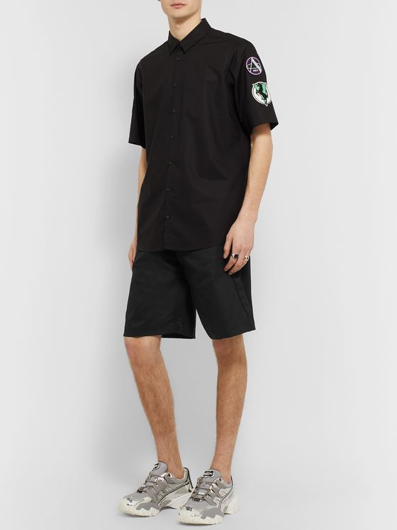 Raf Simons Wide-Leg Denim Shorts