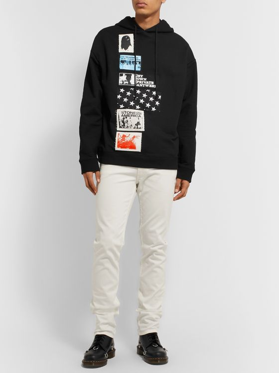 Raf Simons Oversized Appliquéd Loopback Cotton-Jersey Hoodie