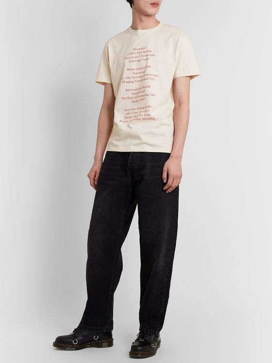 Raf Simons Slim-Fit Printed Cotton-Jersey T-Shirt