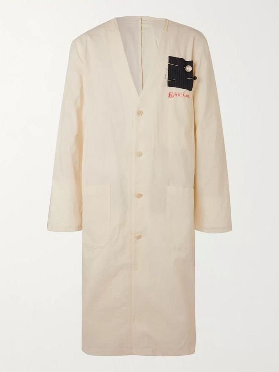 Raf Simons Labo Embellished Cotton Coat