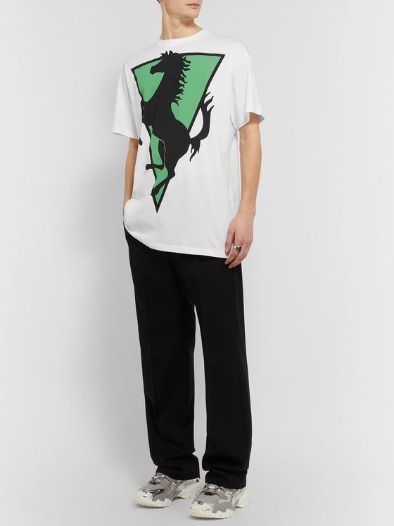 Raf Simons Printed Cotton-Jersey T-Shirt