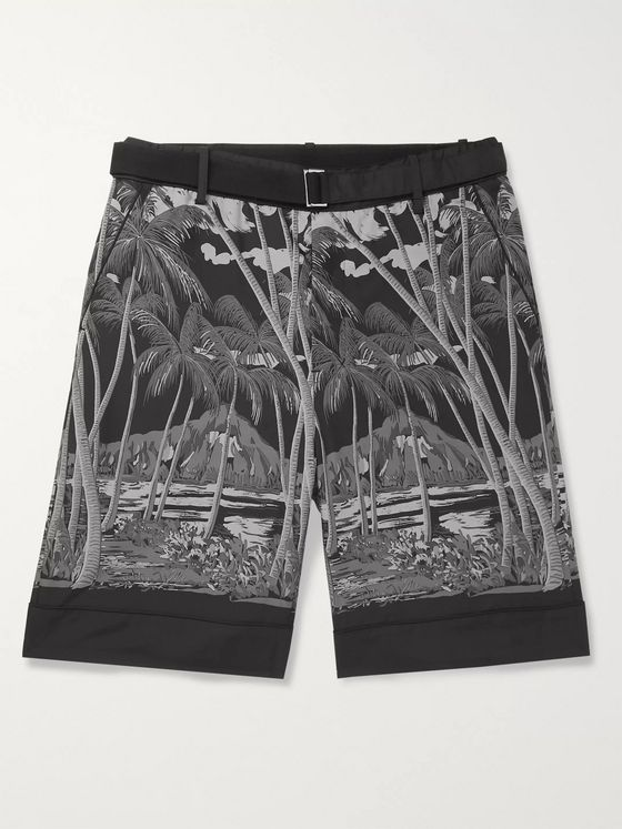 Sacai + SUN SURF Diamond Head Printed Voile Shorts