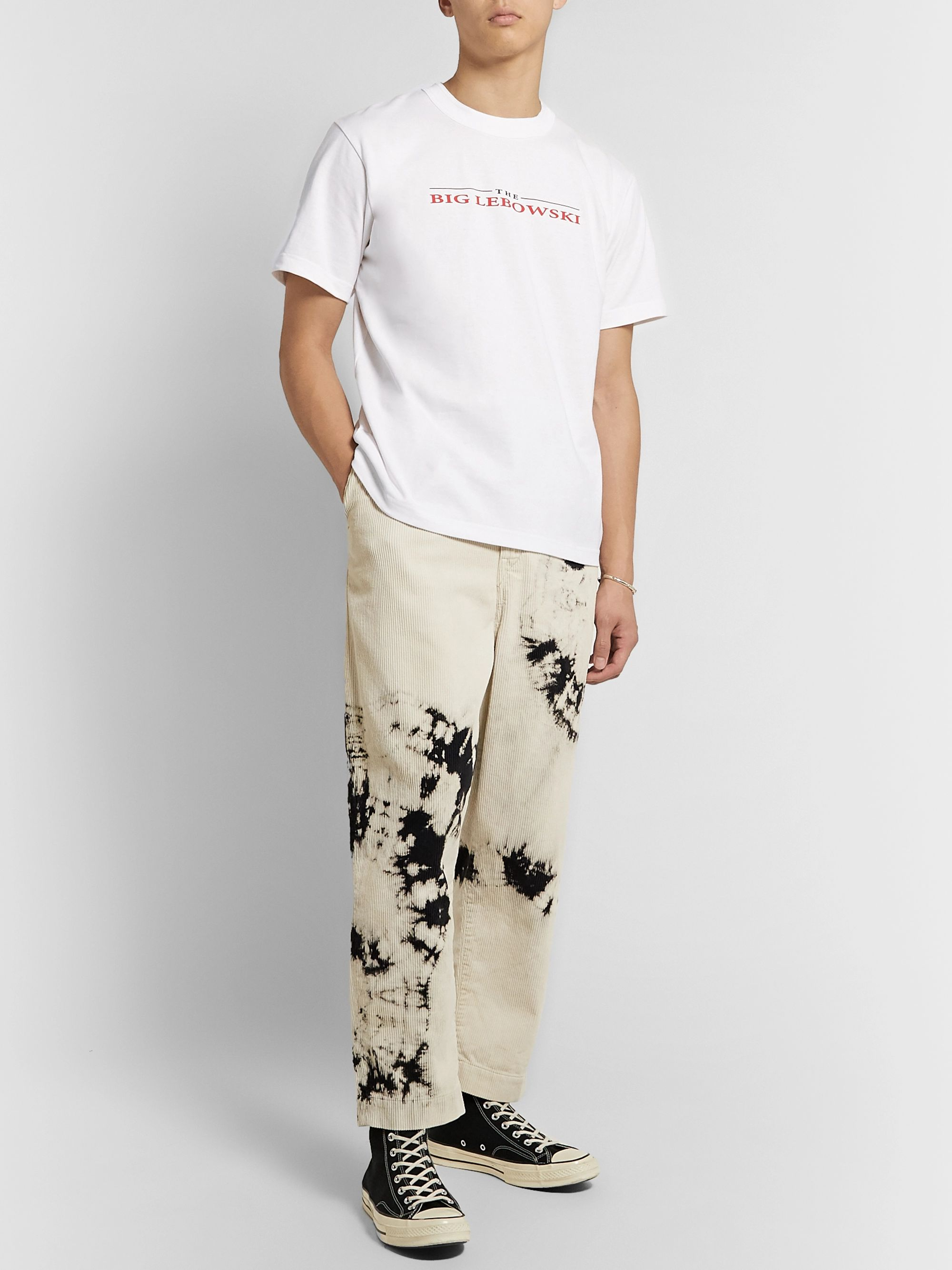 Sacai Printed Cotton-Jersey T-Shirt