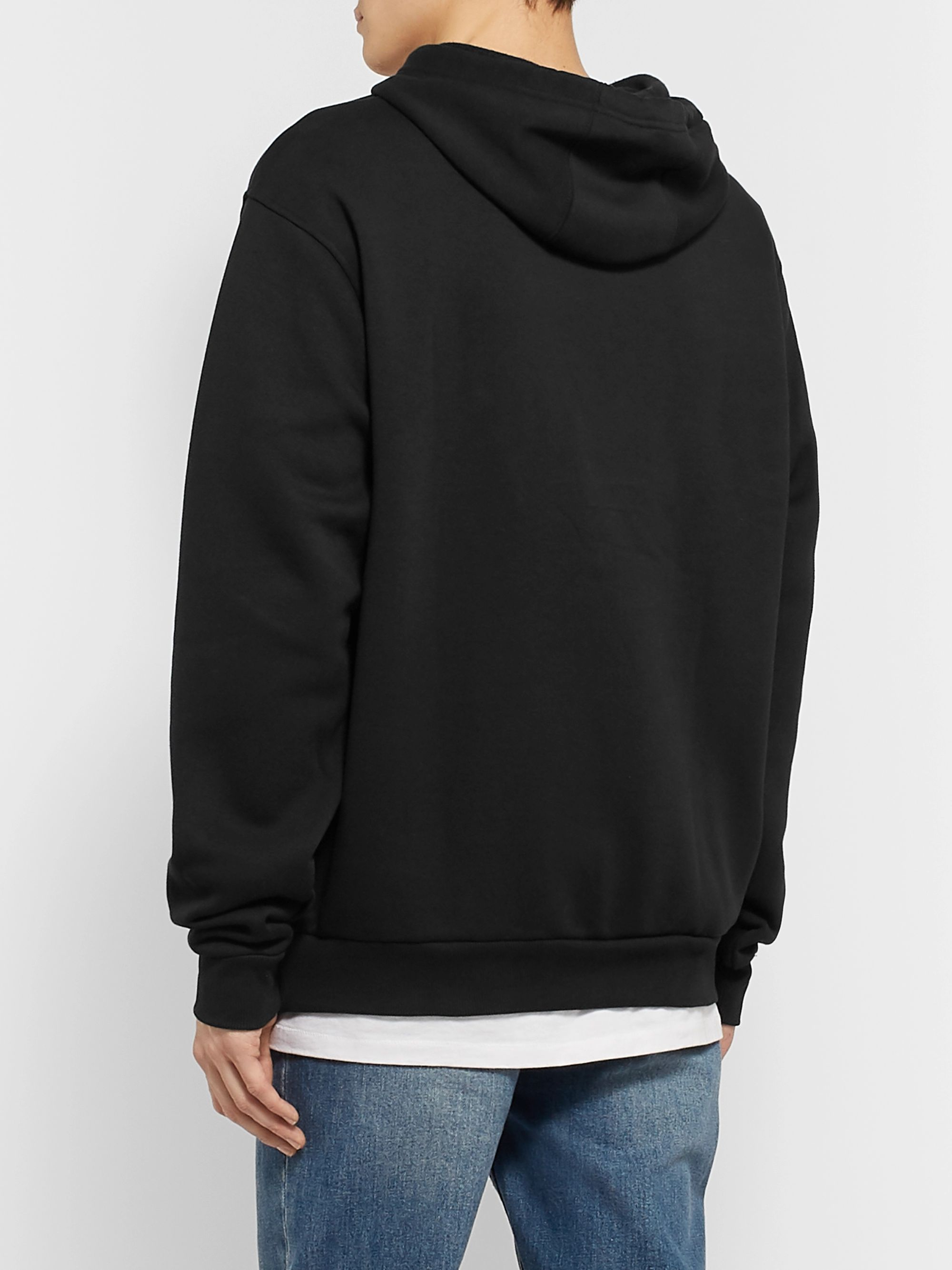 adidas Originals Printed Fleece-Back Cotton-Blend Jersey Hoodie