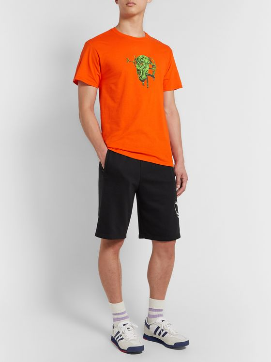 adidas Originals Shadow Logo-Embroidered Loopback Cotton-Blend Jersey Shorts