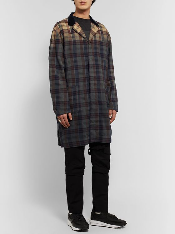 Sacai Double-Faced Checked Cotton Trench Coat