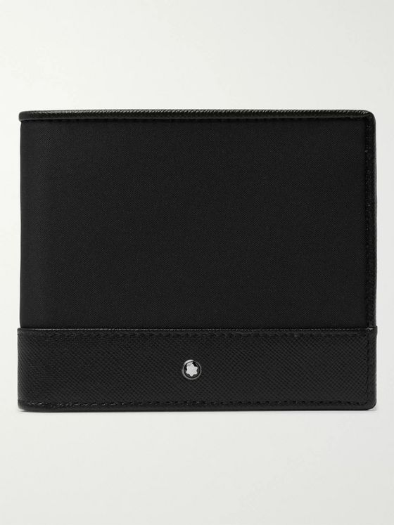 Montblanc Sartorial Jet Cross-Grain Leather and Nylon Billfold Wallet