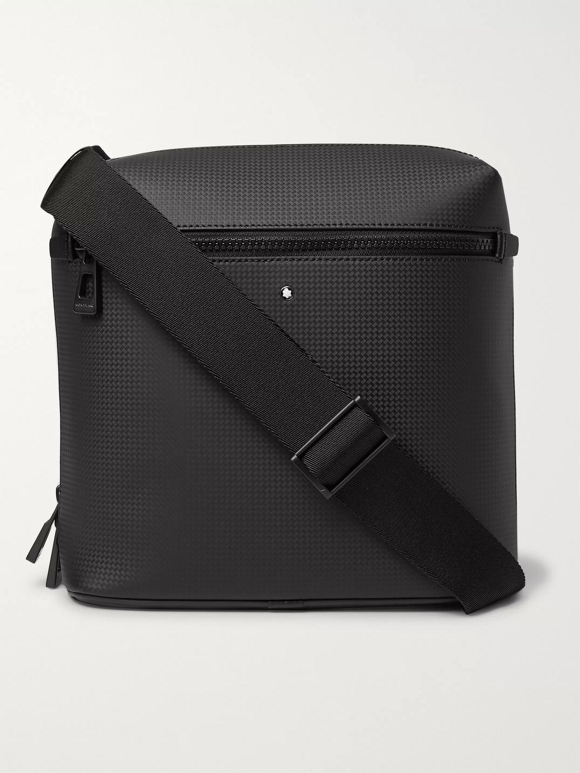 몽블랑 Montblanc Extreme 2.0 Envelope Textured-Leather Messenger Bag,Black