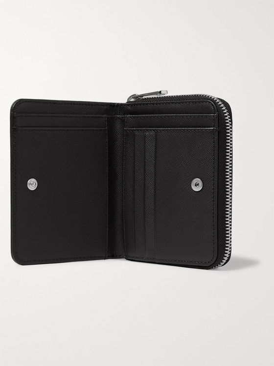 A.P.C. Cross-Grain Leather Zip-Around Wallet