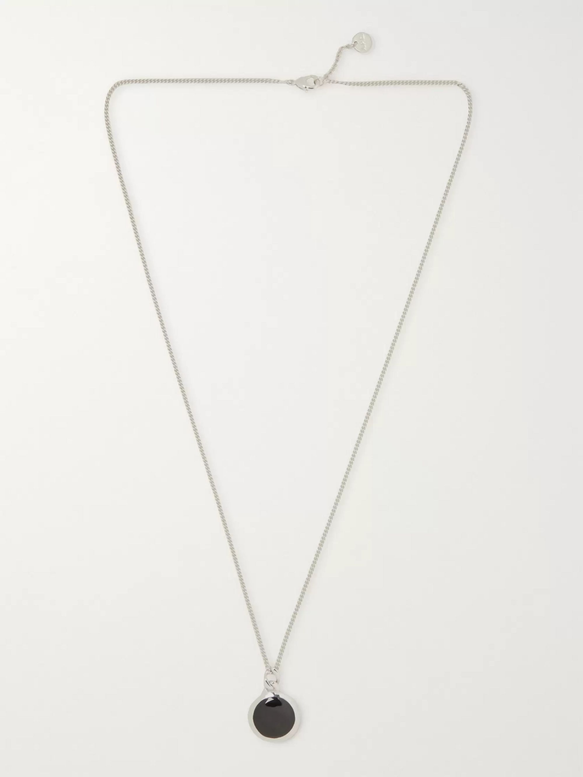 A.P.C. Silver-Tone and Enamel Necklace