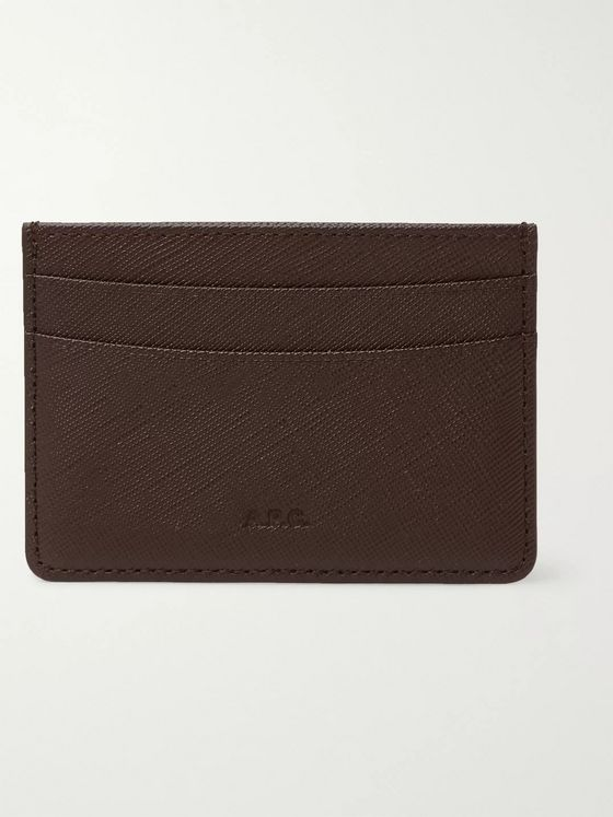 A.P.C. Cross-Grain Leather Cardholder
