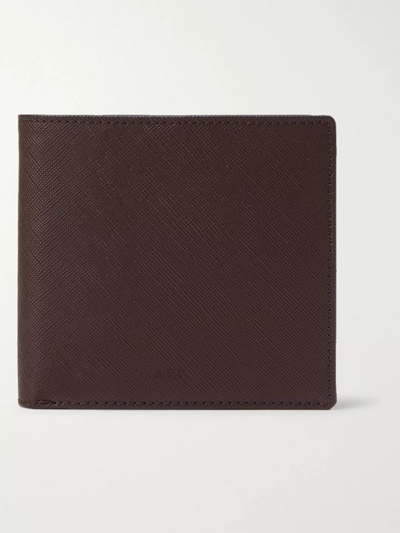 A.P.C. Cross-Grain Leather Billfold Wallet