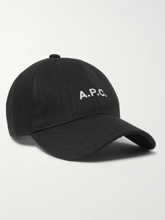 A.P.C. Logo-Embroidered Cotton-Blend Twill Baseball Cap