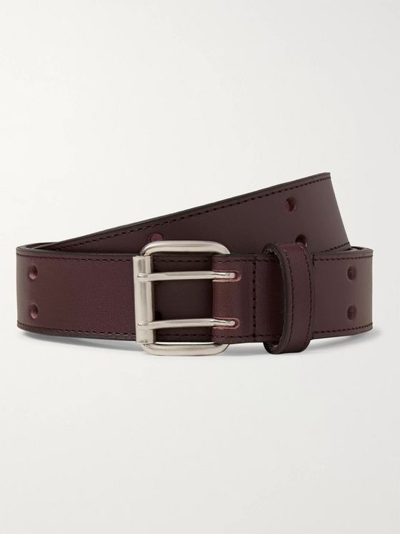 A.P.C. 3cm Dark-Brown Leather Belt