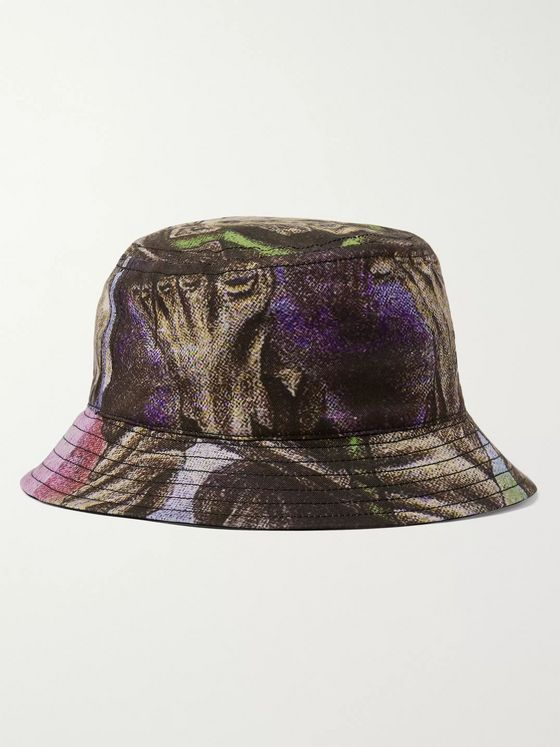 Acne Studios + Monster in My Pocket Printed Cotton-Twill Bucket Hat