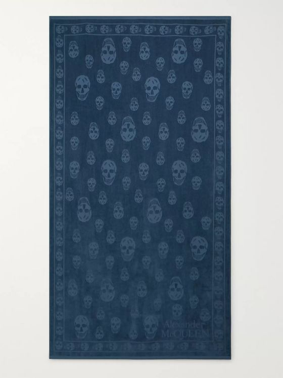 Alexander McQueen Logo-Jacquard Cotton-Terry Beach Towel