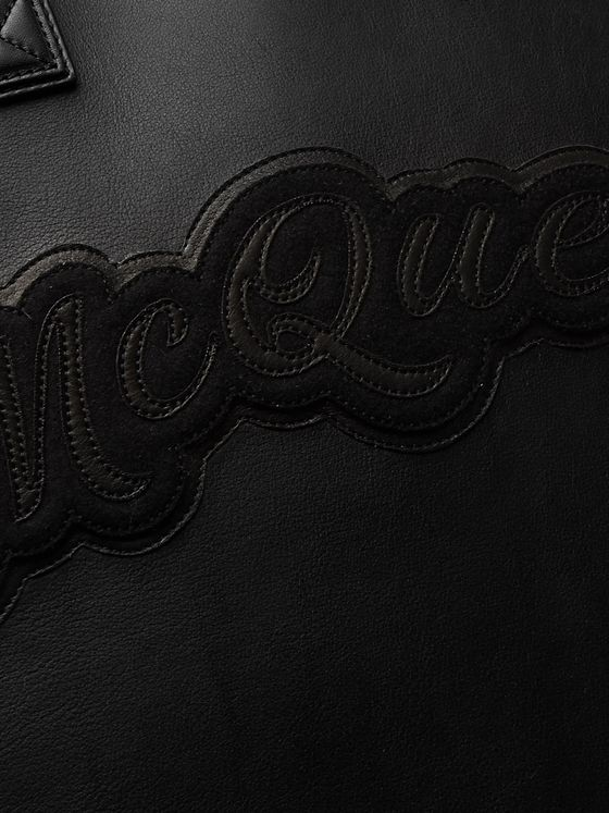Alexander McQueen Rock Oversized Logo-Appliquéd Leather Tote