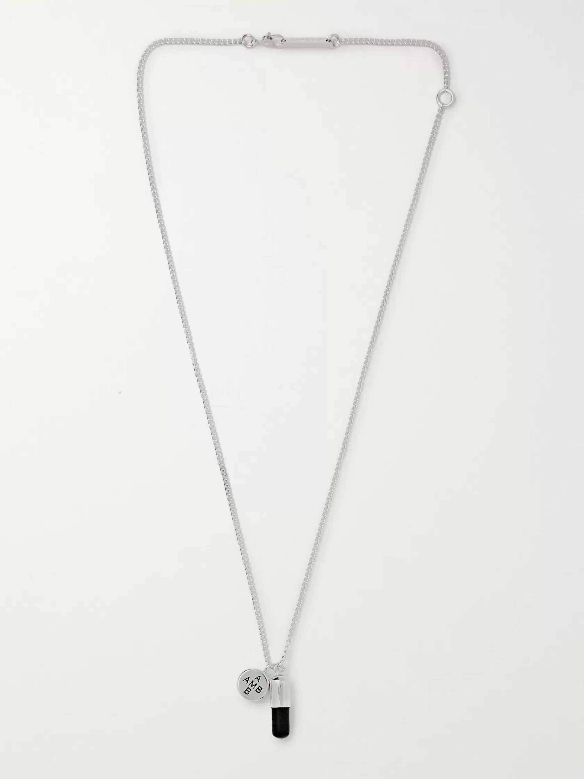 AMBUSH® Sterling Silver and Enamel Necklace