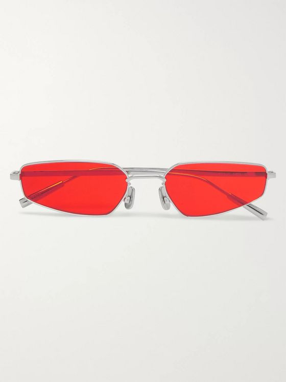 AMBUSH® Rectangle-Frame Silver-Tone Sunglasses