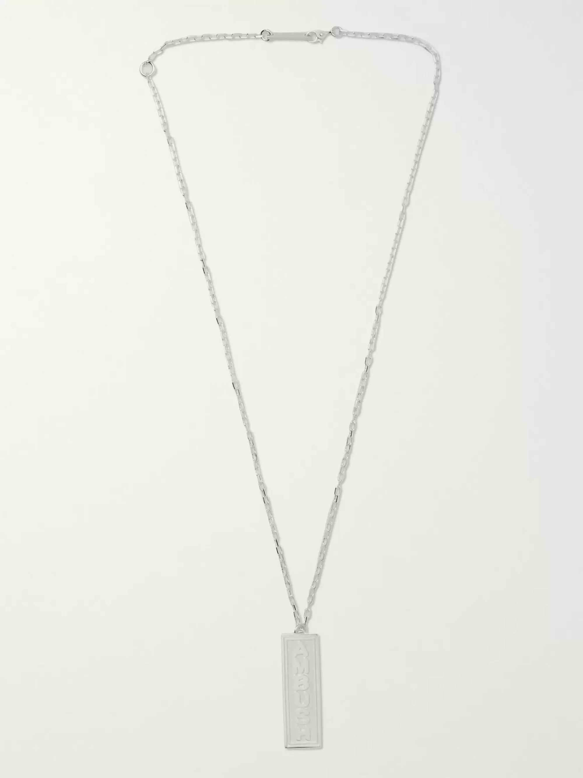 AMBUSH® Ofuda Logo-Engraved Silver-Tone  Necklace
