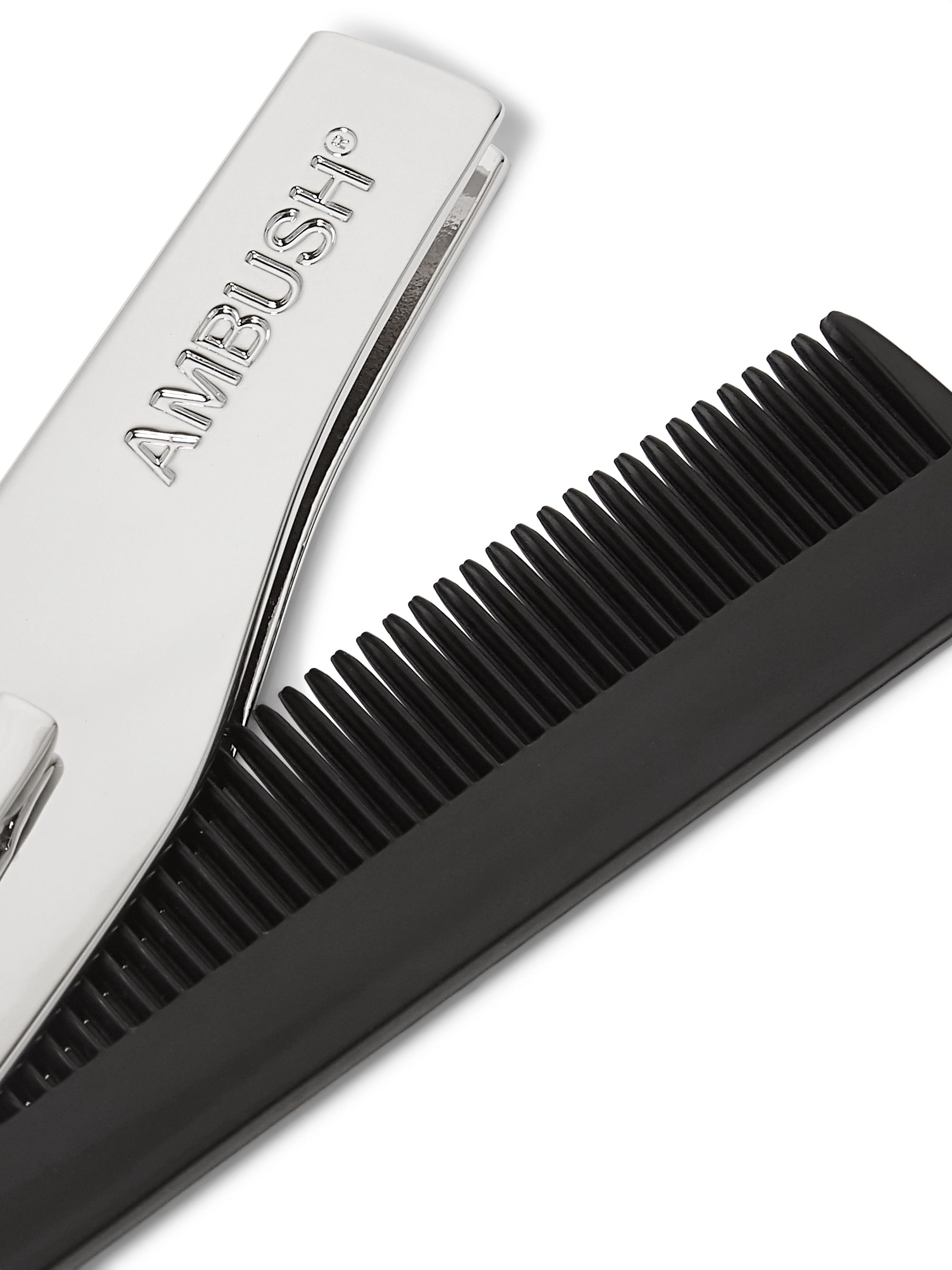 AMBUSH® Logo-Engraved Sterling Silver and Plastic Comb