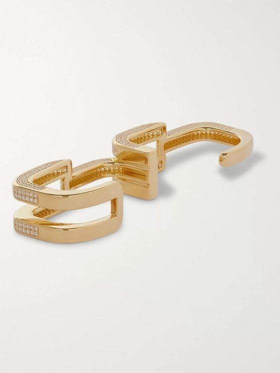 AMBUSH® Gold-Plated Crystal Ring