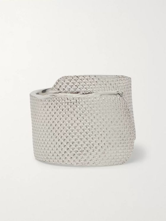 AMBUSH® Tape Engraved Sterling Silver Ring