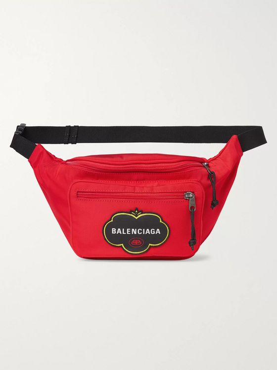 Balenciaga Explorer Logo-Appliquéd Nylon Belt Bag