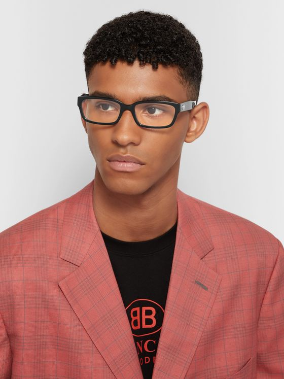 Balenciaga Rectangle-Frame Acetate Optical Glasses