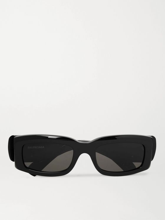 Balenciaga Rectangle-Frame Acetate Sunglasses