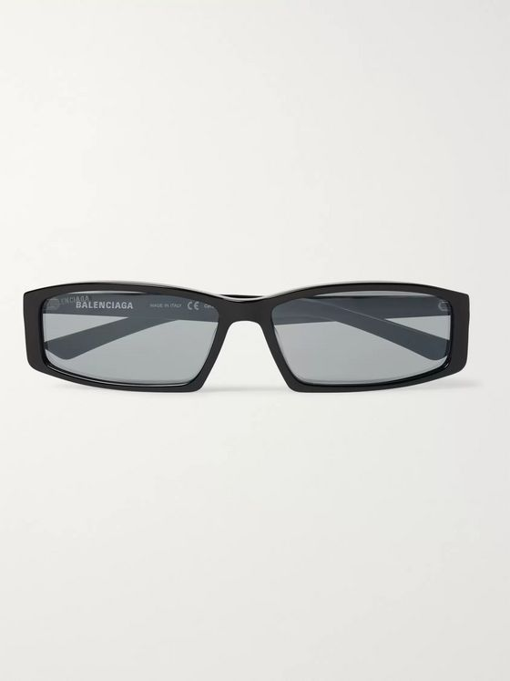 Balenciaga Rectangular-Frame Acetate Sunglasses