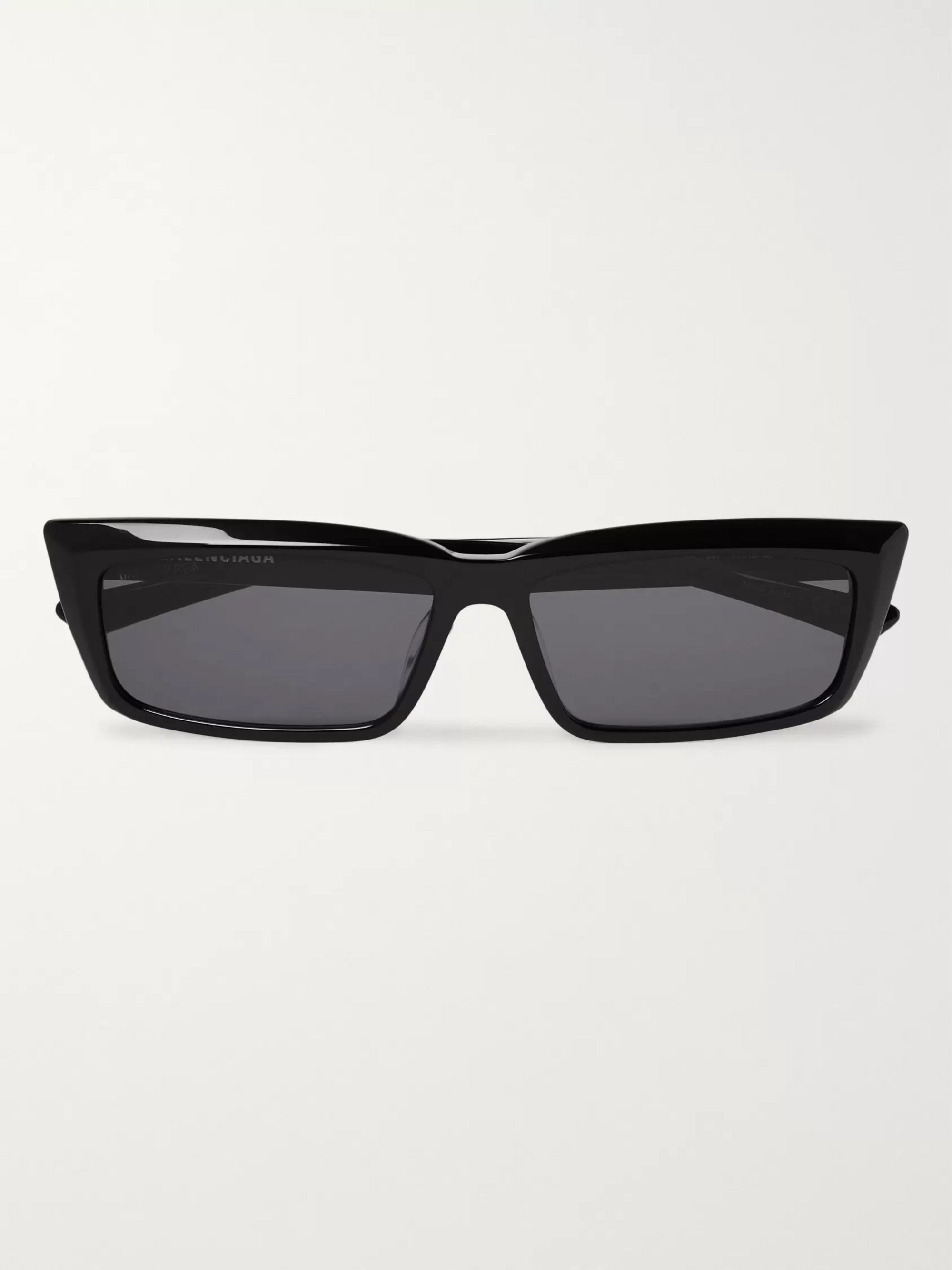 Rectangular Frame Acetate Sunglasses by Balenciaga