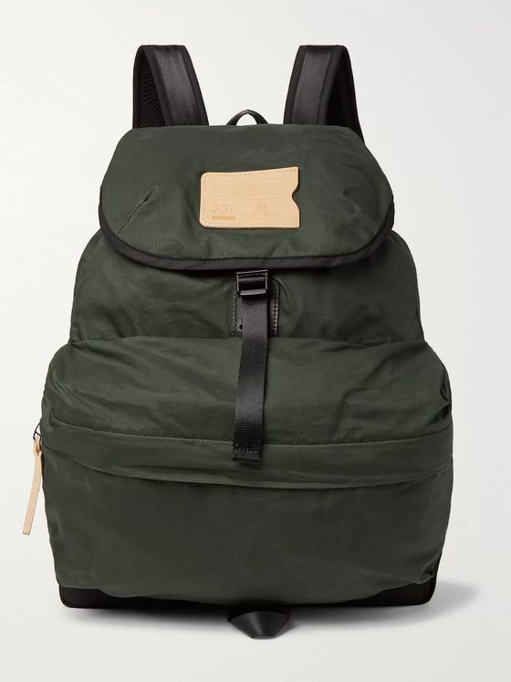 Bleu de Chauffe Bayou Canvas-Trimmed Cotton-Ripstop Backpack
