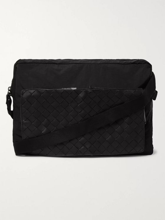 Bottega Veneta Nylon and Intrecciato Leather Messenger Bag