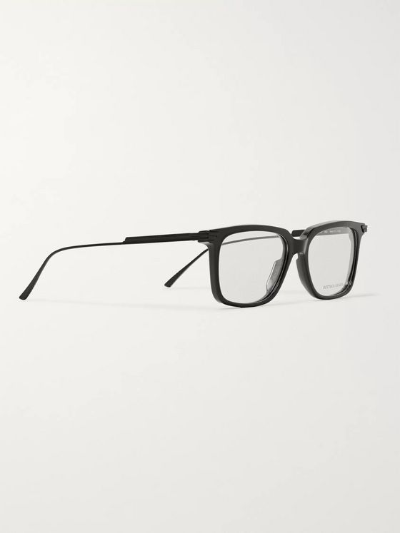 Bottega Veneta Square-Frame Acetate and Metal Sunglasses